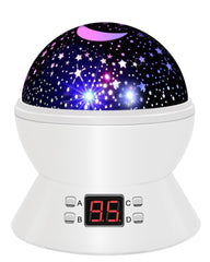 Star Sky Night Lamp,ANTEQI Baby Lights 360 Degree Romantic Room Rotating Cosmos Star Projector With LED Timer Auto-Shut Off,USB Cable For Kid Bedroom,