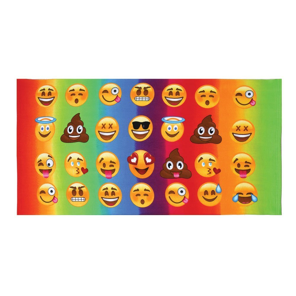 Top Trenz Emoji-emojicon Bath/ Beach Towel-fun!