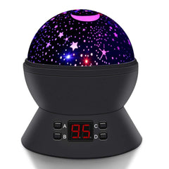 SCOPOW Constellation Night Light Star Sky with LED Timer Auto-Shut Off, 360 Degree Rotation Colorful Moon Night Lamp Gift for Baby Kid Children Bedroo