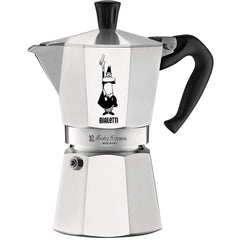 Bialetti 4942 Moka Express Espresso Maker, Red 3-Cup (2 Porcelain Espresso Cups Gift)