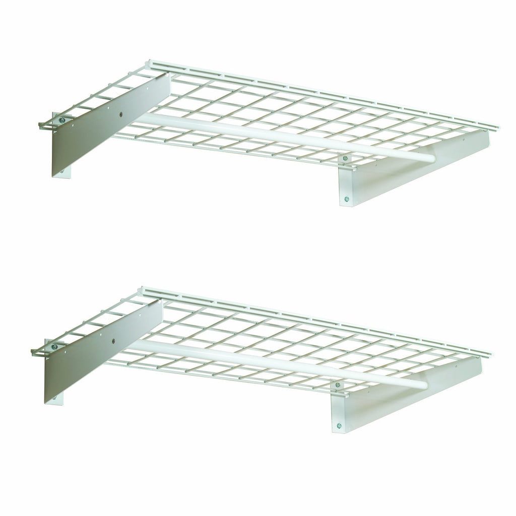 HyLoft 00777 36-by-18-Inch Wall Shelf with Hanging Rod, 2-Pack (4 X Pack of 2)