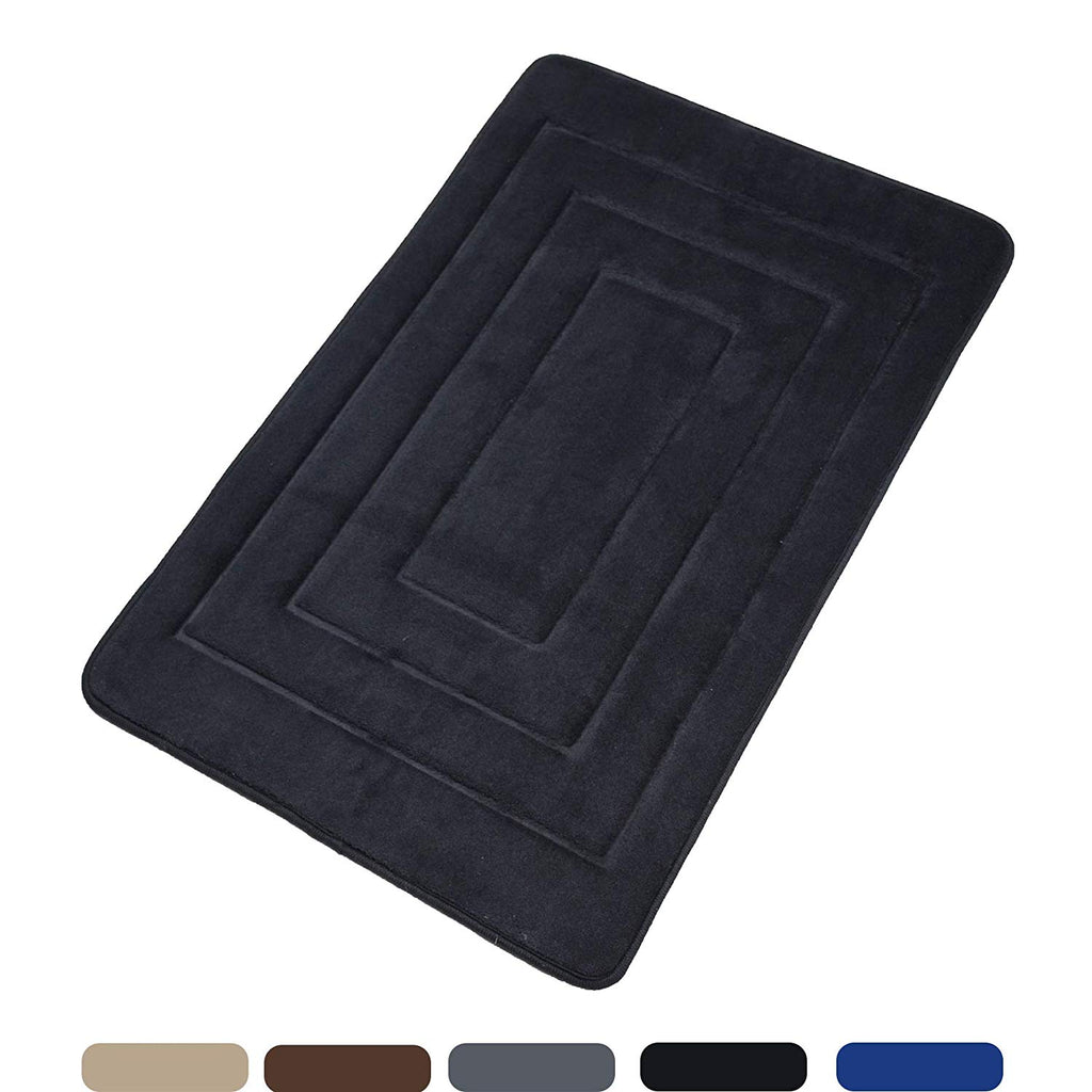 Elegant Bath Mat Soft Bathroom Rugs, Non-Slip Rubber Bath Rugs, Absorbent Bathroom Mat Rugs, Comfortable Coral Velvet Bathroom Mat (16