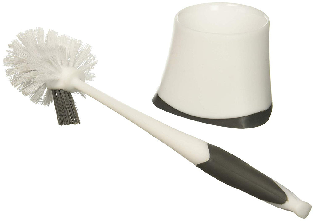 Clorox Corner Toilet Holder with Under Rim Brush, Base