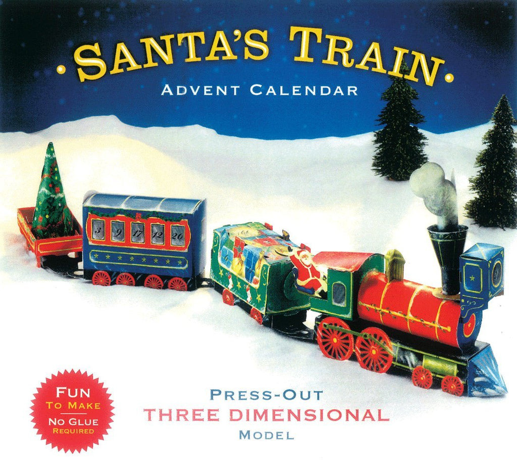 Entertaining with Caspari Christmas Train 3D Advent Calendar