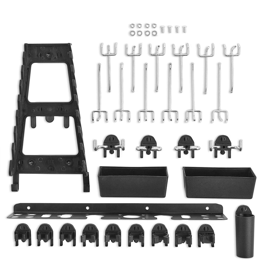 VonHaus 30pc Pegboard Accessory Set with Hooks, Bins and Shelf for Tools, Parts and Spares - Only Compatible with The Metal Pegboard 9100072 - Do Not