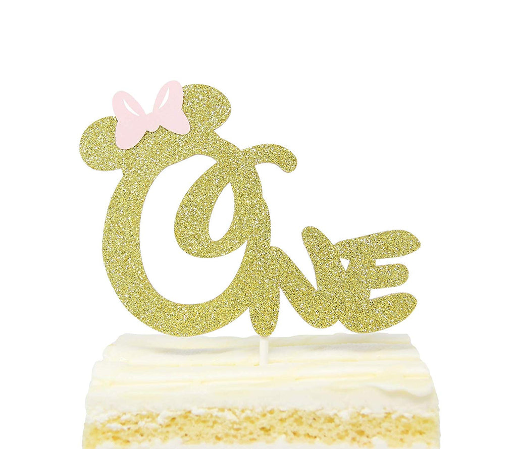 Admirable Minnie Mouse Cake Topper 1St Birthday Funny Birthday Cards Online Necthendildamsfinfo