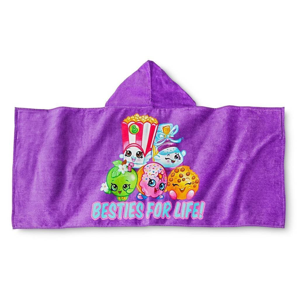 Shopkins Hooded Towel (Purple)