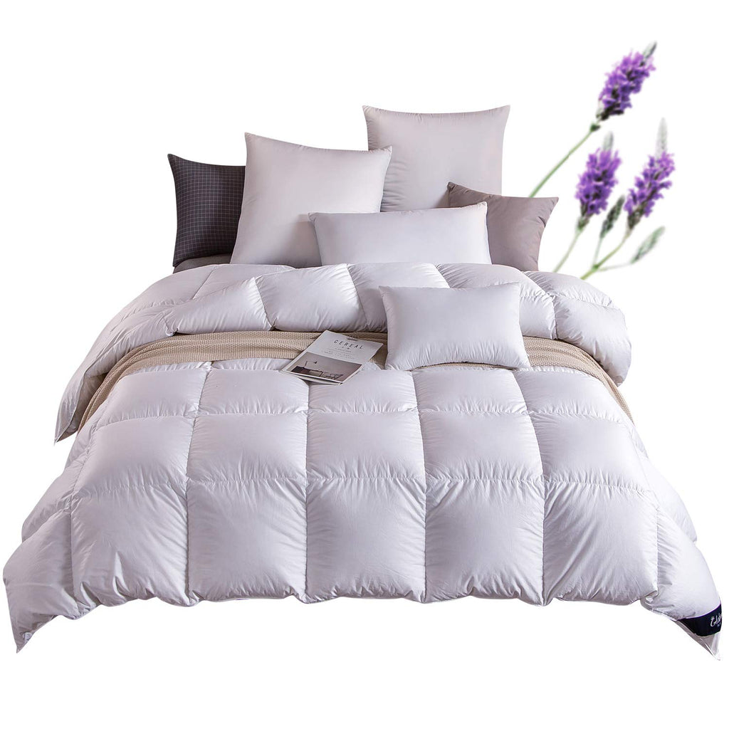Globon Lavender Scented White Down Comforter King Size 106 Inch By 90 Loveinhome