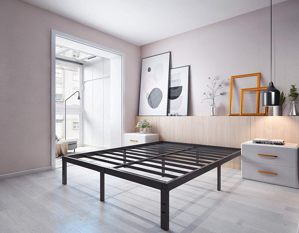 Homdock 14 Inch Metal Platform Bed Frame/Sturdy Strong Steel Structure 3000 lbs Heavy Duty/Noise Free/None Slip Mattress Foundation/No Box Spring Need