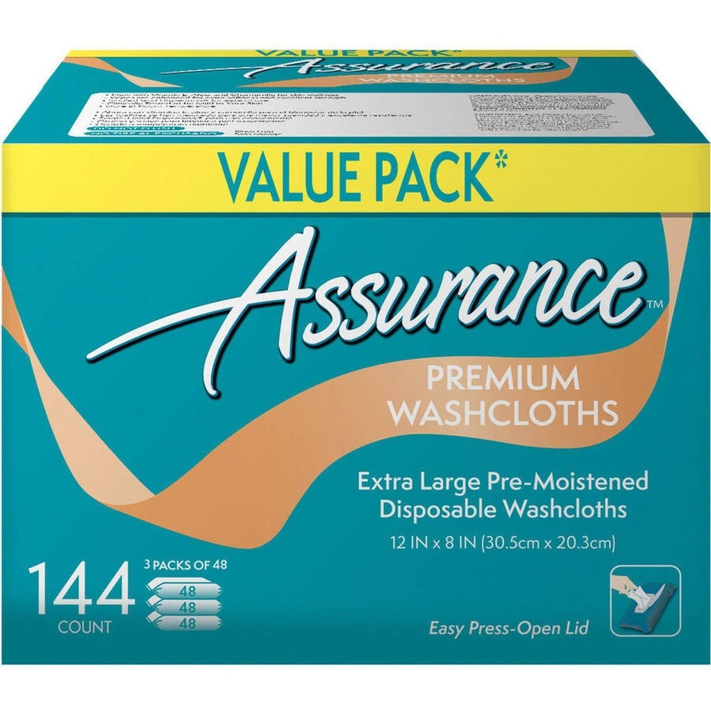 .Assurance Premium Washcloths Value Pack 144 Count