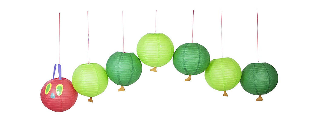 World of Eric Carle, The Very Hungry Caterpillar Party Supplies, Lantern Decoration, 7 Piece Set