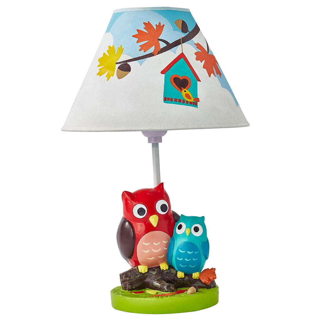 Fantasy Fields Enchanted Woodland Owl Nursery Table Lamp for Kids Room Décor