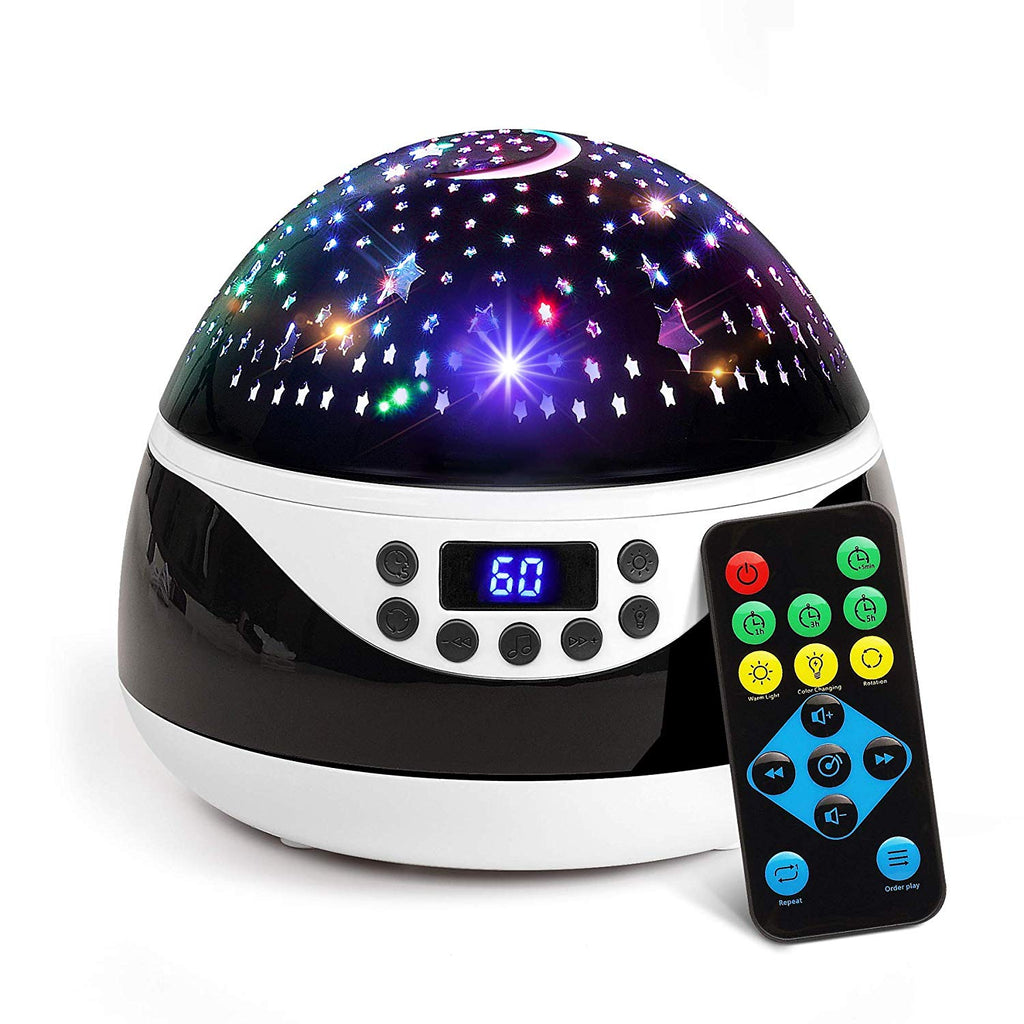 2018 NEWEST Baby Night Light, AnanBros Remote Control Star Projector with Timer Music Player, Rotating Star Night Light 9 Color Options, Best Night Li