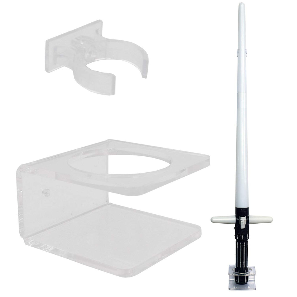 YYST Clear Light Saber Wall Mount Wall Rack Wall Holder - Hardware Included.