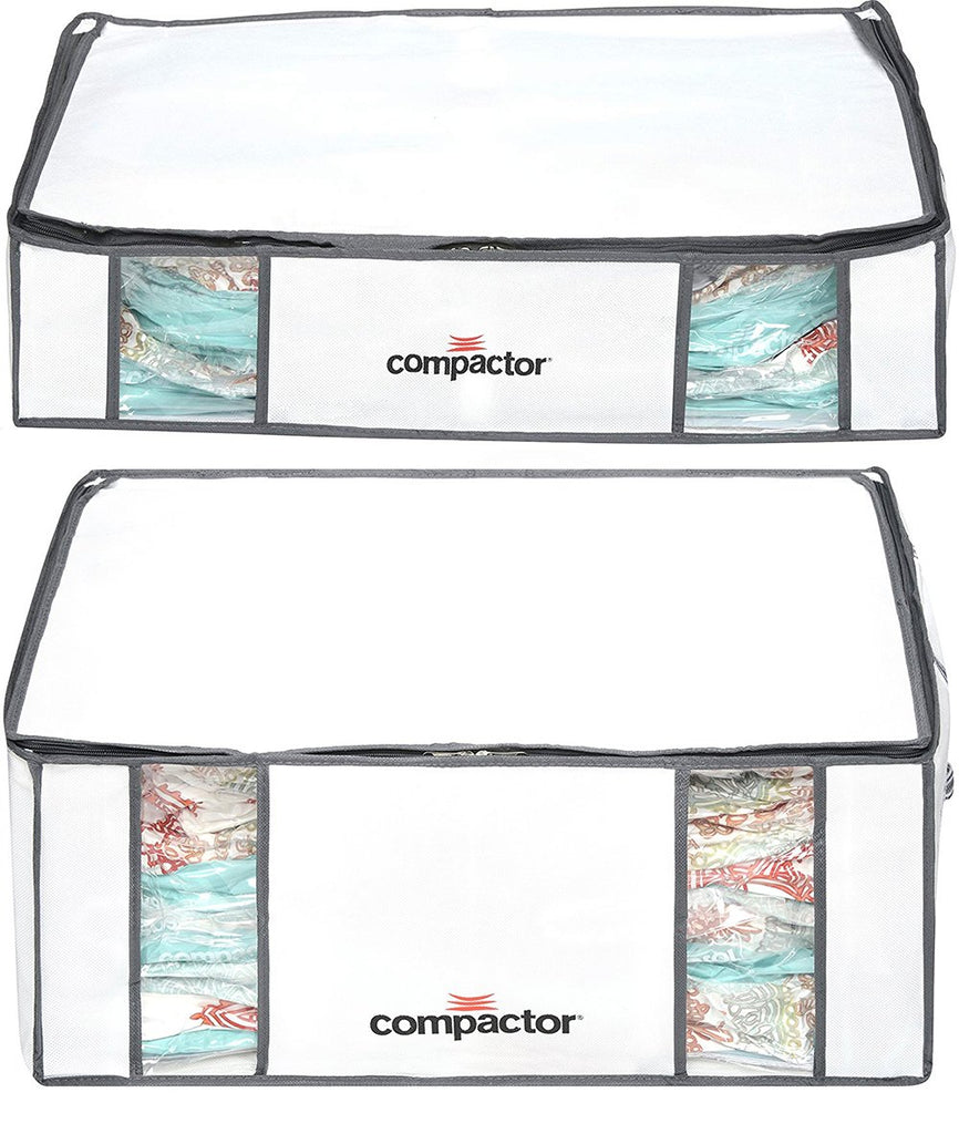 Compactor Space Saver Vacuum Storage Solution Vacuum Bag to Protect Clothes, Pillows, Duvets, Comforters, Blankets (M + L, Mariner Stripes)