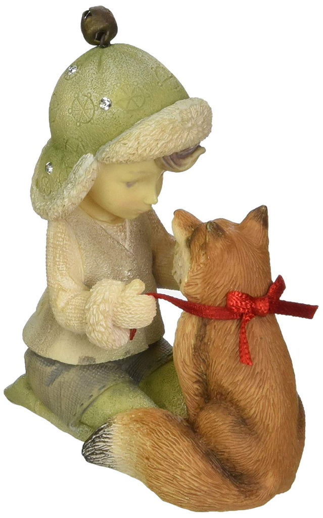Enesco Heart of Christmas Elf with Fox Figurine 2.76 in