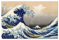 Wieco Art Canvas Prints Wall Art Ocean Beach Picture Paintings for Home Office Decorations Wall Decor Great Wave of Kanagawa Katsushika Hokusai Modern