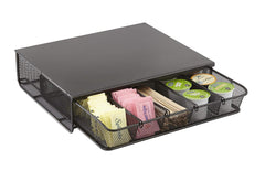 Safco Products 3274BL Onyx Mesh Hospitality Organizer, 1 Drawer, Black
