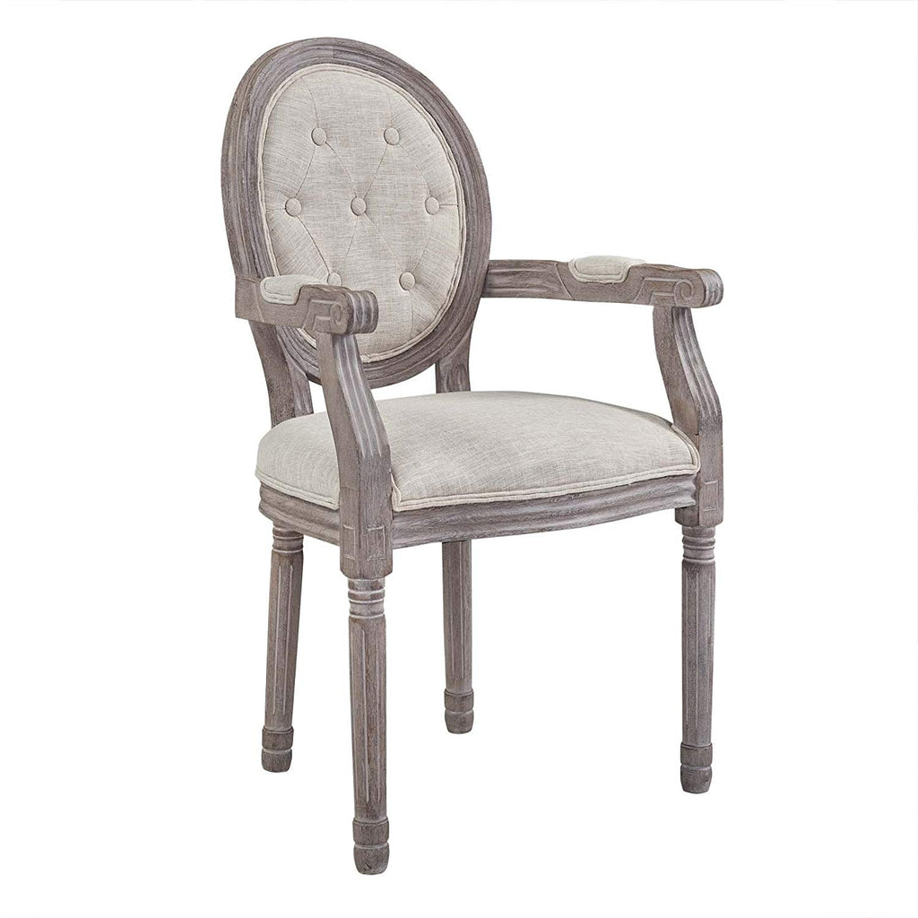 Modway EEI-2796-LGR Arise Dining Armchair, Fully Assembled One, Light Gray