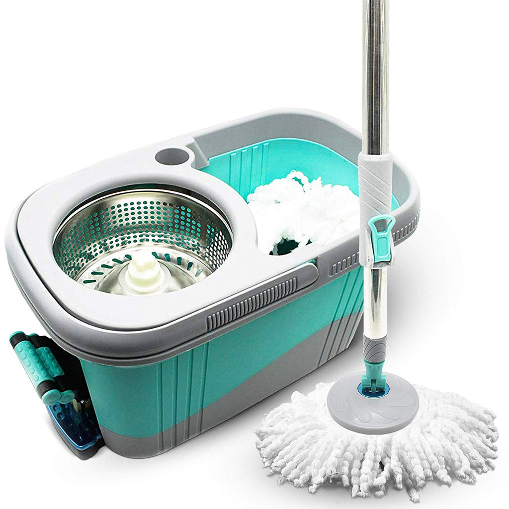 KP Spin Microfiber Floor Mop Bucket with Wringer Best Hurricane Spin Scrubber for Floor Cleaning, mapo de limpiar piso