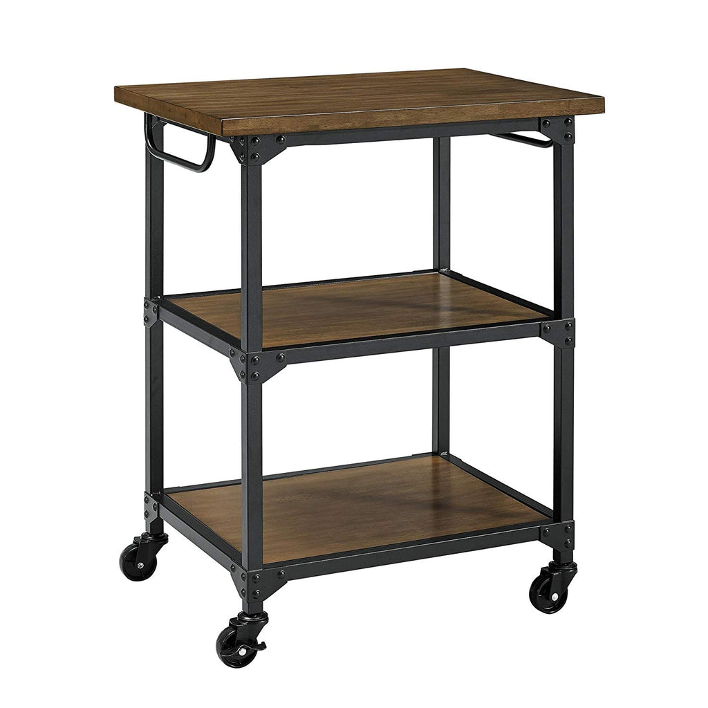 Dorel Living Nellie Multifunction Cart, Rustic Antique Oak/Black