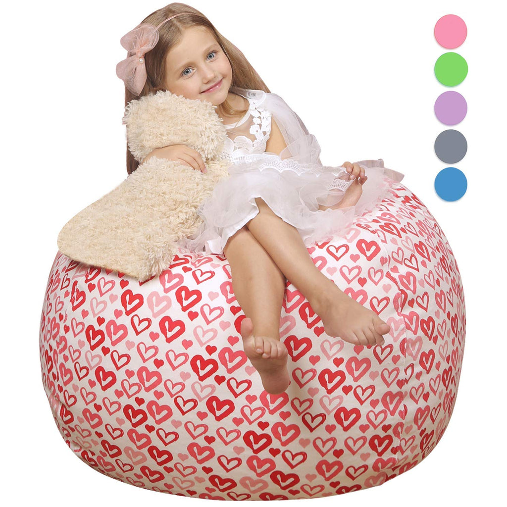 WEKAPO Kids Stuffed Animal Storage Bean Bag Chair | 38