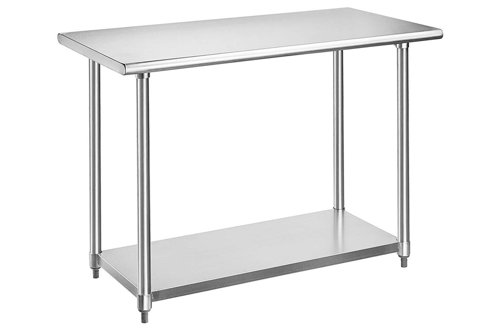 Rockpoint Beacon Stainless Steel Table NSF Certified, 48-Inch