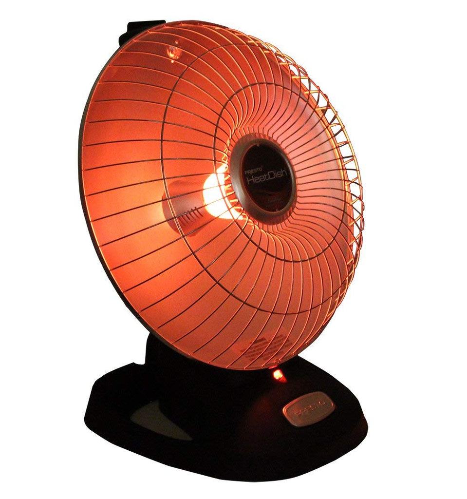 Presto Heat Dish Parabolic Electric Heater With Quick, Concentrated Heat