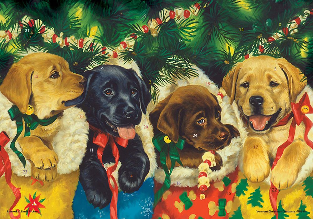 Vermont Christmas Company Puppies Advent Calendar