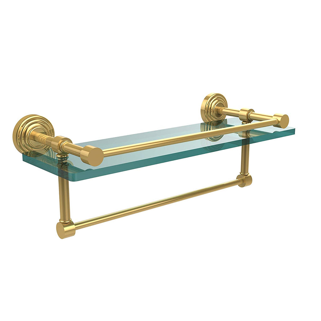 Allied Brass WP-1TB/16-GAL-ORB 16 Inch Gallery Glass Shelf with Towel Bar Oil Rubbed Bronze