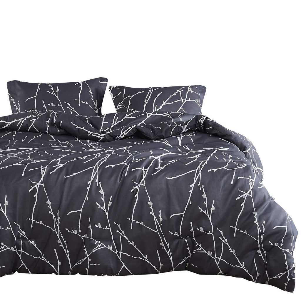 Reversible With Grey And Turquoise Pattern Printed Gray Teal Comforter Set Soft Microfiber Bedding 3pcs King Size Wake In Cloud Comforter Sets Home