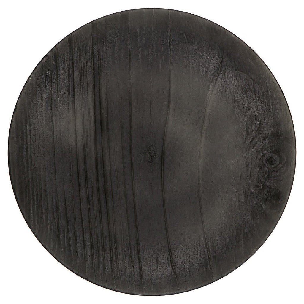 MADHOUSE by Michael Aram 12-Count Translucent Black Luncheon Plate, Twig