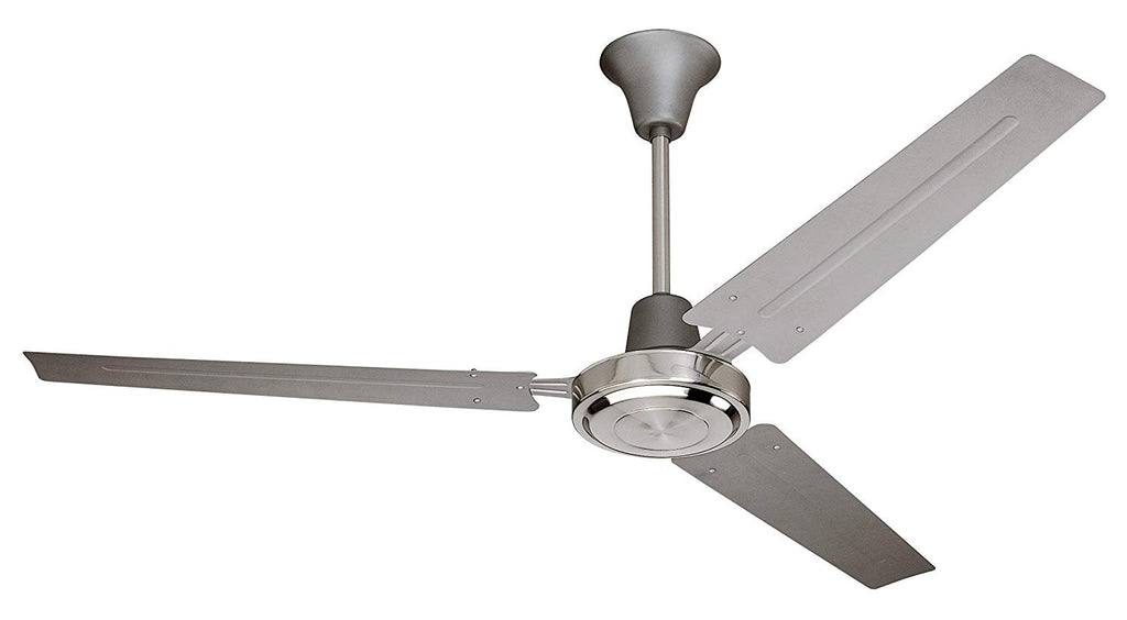 Craftmade 3 Metal Blade Ceiling Fan Without Light UT56TBC3M Utility 56 Inch with Wall Control, Brushed Nickel
