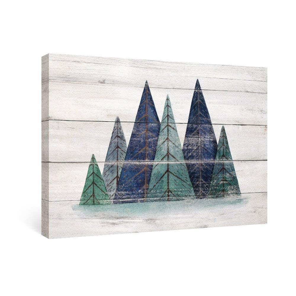 SUMGAR Rustic Wall Art Geometric Decor Mountains Watercolor Landscape Paintings on Canvas,16x24in