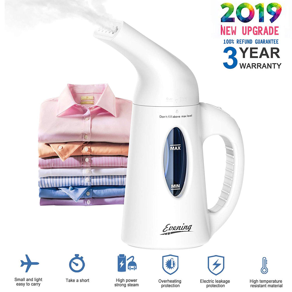 Evening Steamer for Clothes Handheld Clothes Steamer Fast Heat-up Wrinkle Remover Clothes Garment Fabric Steamer Remove Wrinkles Steam Soften Clean Sa