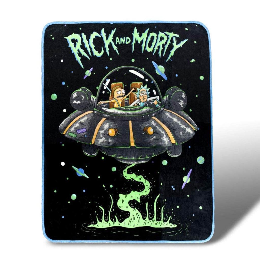RICK AND MORTY 46 x 60  Fleece Throw Blanket - Novelty Home Accessories - Collectible Unique Gift for Birthdays, Holidays, House Warming Parties
