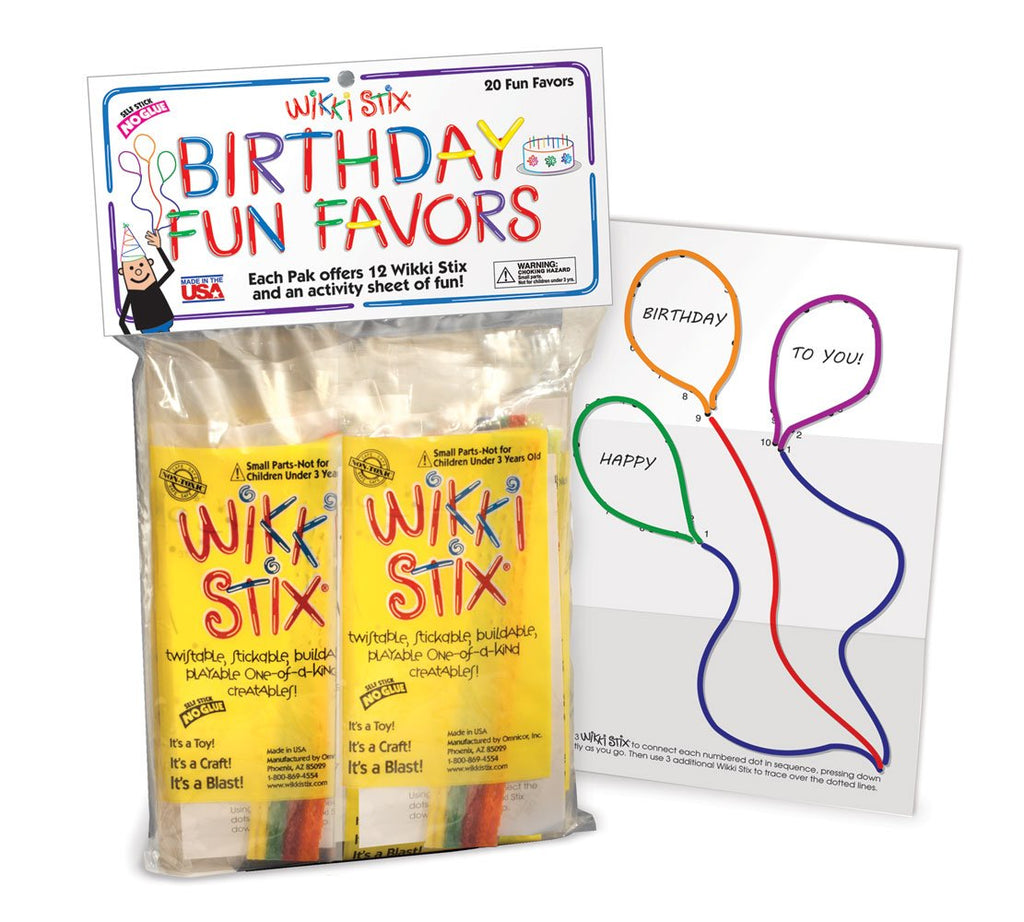 WikkiStix Birthday Fun Favors, Pack of 20 Molding & Sculpting Sticks
