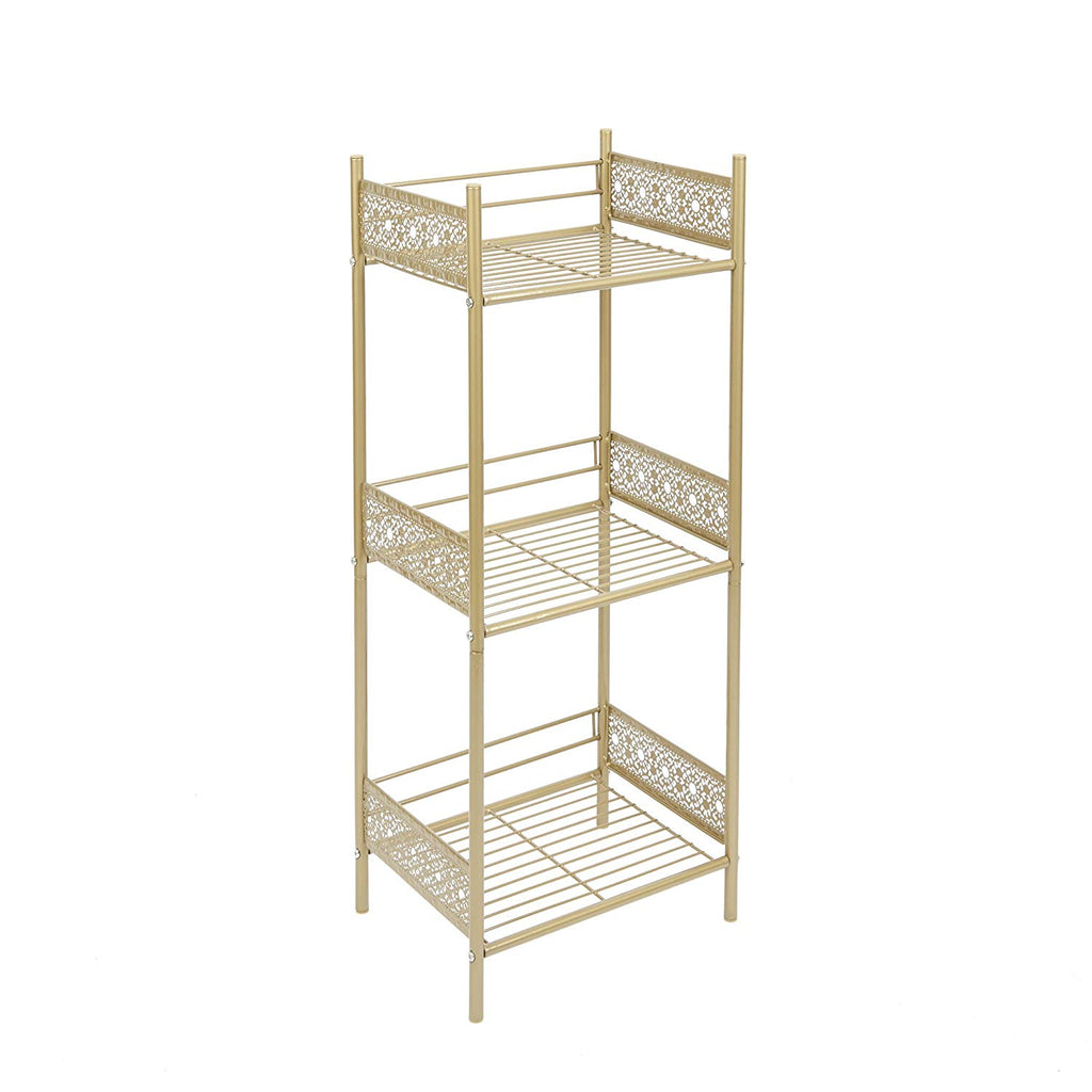 Silverwood Filigree Bathroom Collection Floor Shelf, 36