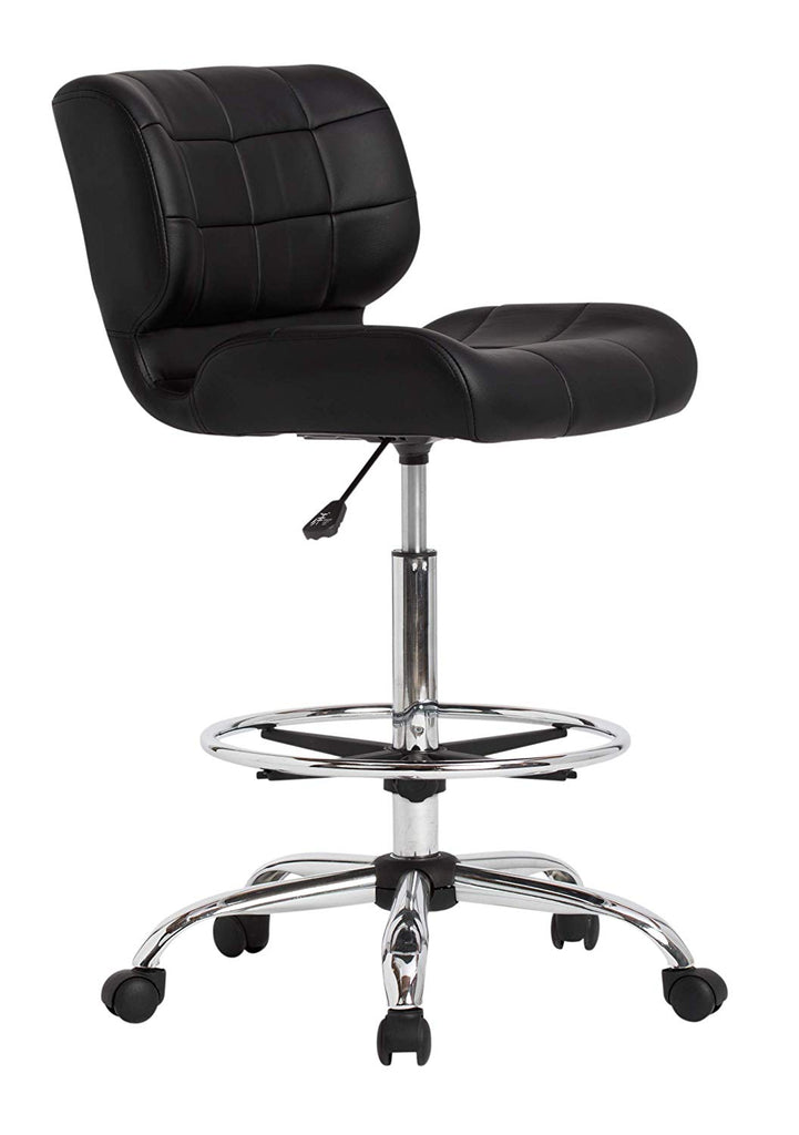 Studio Designs Modern Black Crest Drafting Chair