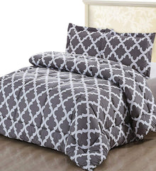 Utopia Bedding Printed Comforter Set (Queen, Navy) with 2 Pillow Shams - Luxurious Brushed Microfiber - Goose Down Alternative Comforter - Soft and Co