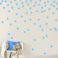 Light Brown Wall Decal Dots (200 Decals) | Easy Peel & Stick + Safe on Walls Paint | Removable Matte Vinyl Polka Dot Decor | Round Circle Art Glitter