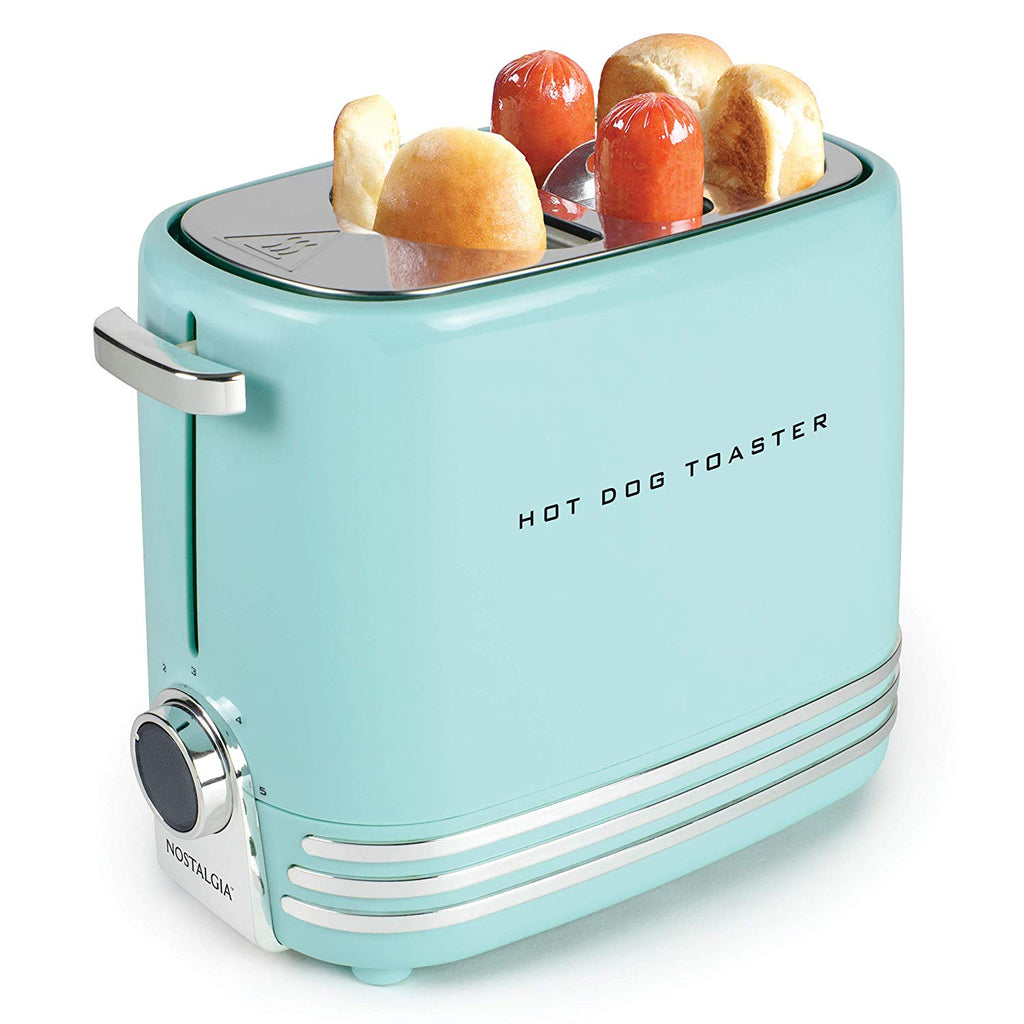 Nostalgia HDT600RETRORED Retro Pop-Up Hot Dog Toaster, Retro Red