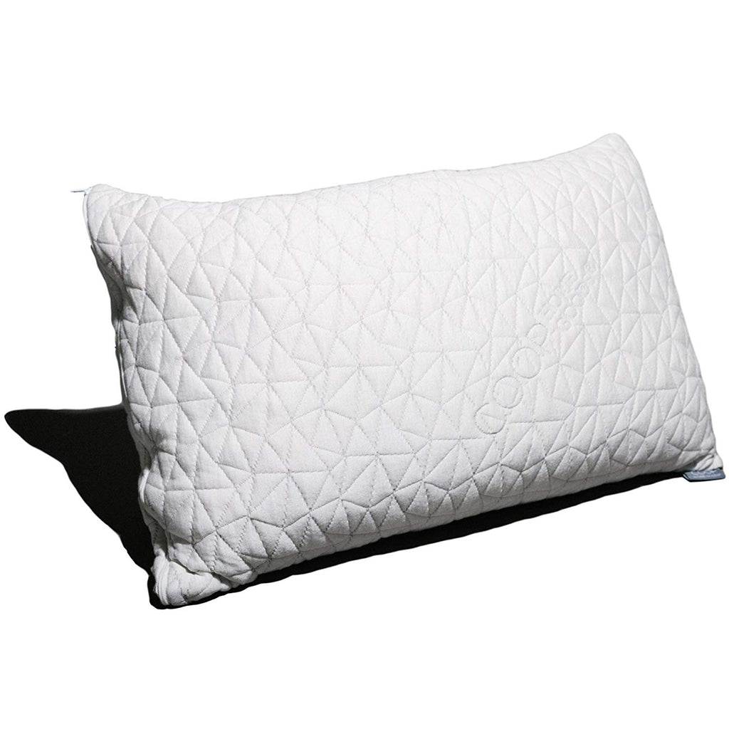 Coop Home Goods - PREMIUM Adjustable Loft - Shredded Hypoallergenic Certipur Memory Foam Pillow with washable removable cooling bamboo derived rayon c