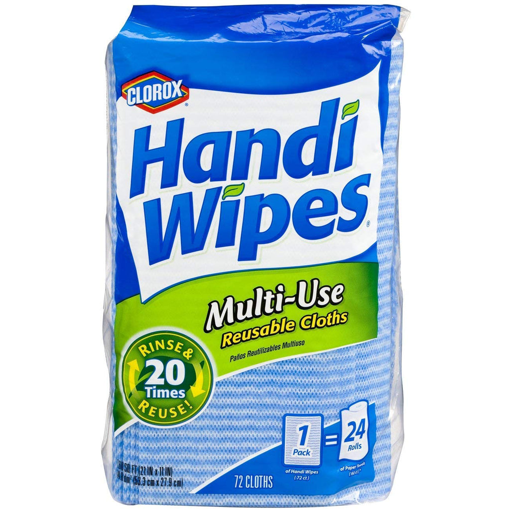 Clorox Handi Wipes Multi-Use Reusable Cloths, 72 Cloths