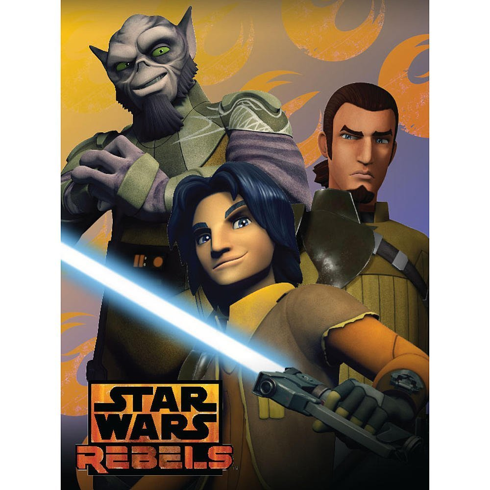 "Disney's Star Wars: Rebels, ""Rebel Trio"" Micro Raschel Throw Blanket, 46"" x 60"", Multi Color"