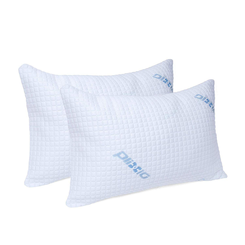 Plixio Pillows for Sleeping  2 Pack Cooling Shredded Memory Foam Bed Pillows