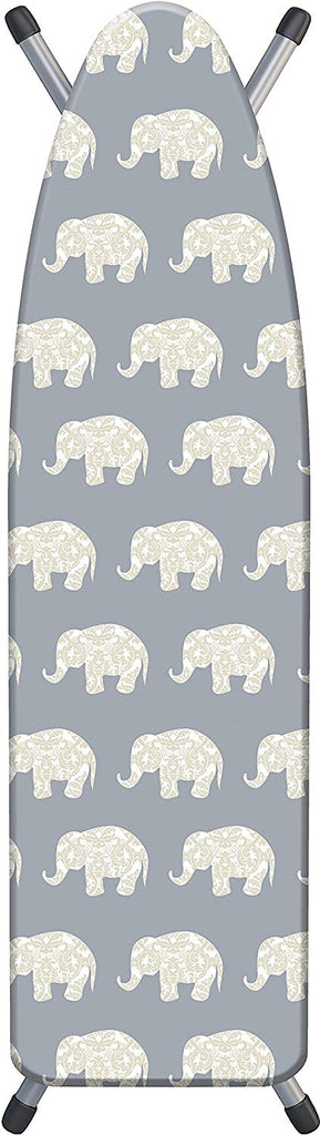 "Laundry Solutions by Westex Damask Elephant Deluxe Triple Layer Extra-Thick Ironing Board Cover and Pad, 15"" x 54"""