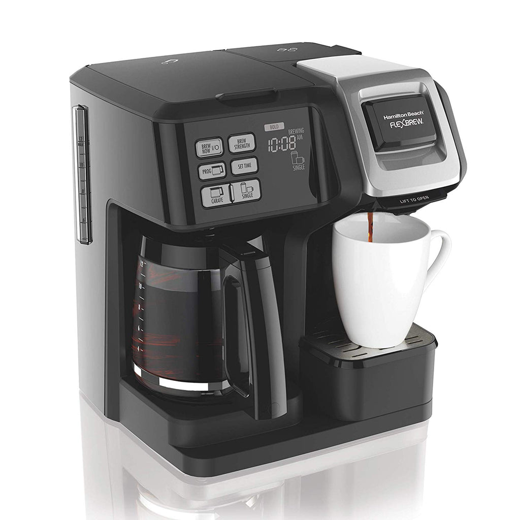 Hamilton Beach (49966) FlexBrew Coffee Maker with Thermal Carafe, Single Serve & Full Coffee Pot, Compatible with Single-Serve Pods or Ground Coffee,