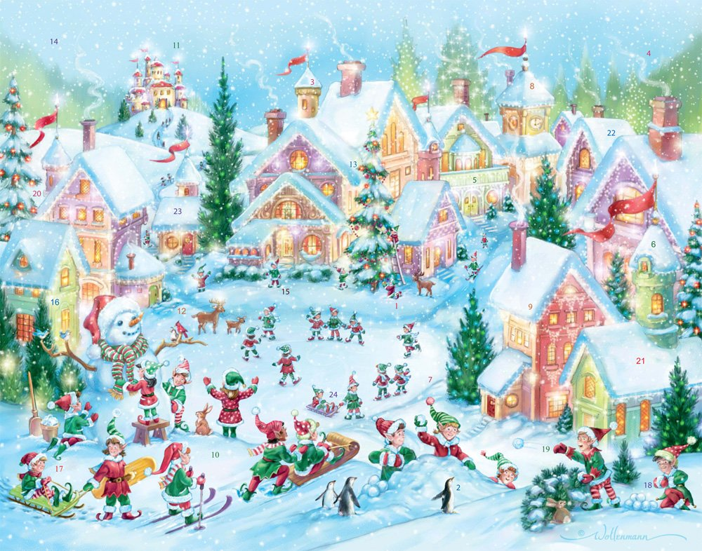 Elf Village Advent Calendar (Countdown to Christmas)