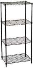 Home Basics Wire Shelving Storage Unit (4 Tier, Black)